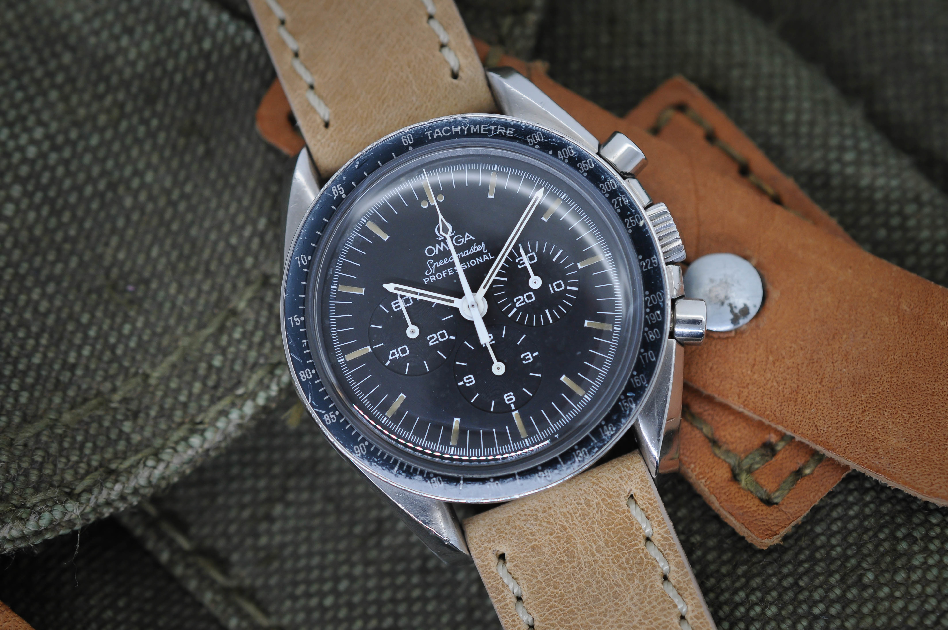 1991 Omega Speedmaster Professional Moonwatch Chronograph Blue